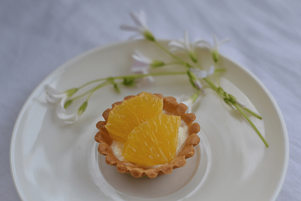 Mini Yogurt Orange Fruit Tart